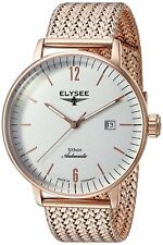 Elysee Sithon 13282M Made in Germany Men's Automatic Dress Watch Rose Gold NEW
