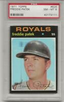 1971 TOPPS # 626 FREDDIE PATEK, PSA 8 NM-MT, KANSAS CITY ROYALS,  TOUGH, L@@K