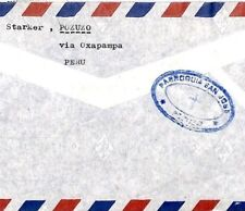 CP28 Peru Cover *POZUZO* MISSIONARY CACHET 1975 Air Mail Surcharges MIVA Austria