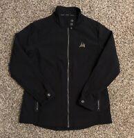 OGIO Women's Full Zip Jacket XL Black 100% Polyester Three Sail Logo Sailing