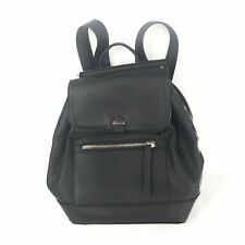 ACCESSORIZE Black Leather Look Rucksack Backpack Travel Holiday Women's Small