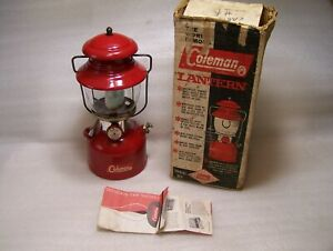 Coleman 1962 200A Red Single Mantle Lantern w/Box Igniter Nice Condition