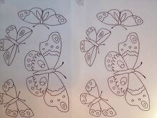 Websters Butterflies iron on embroidery transfer 4 x  A4 sheets