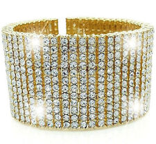 BRAND NEW!! 12 ROW ICED OUT GOLD FINISH PREMIUM QUALITY HIP HOP BRACELET