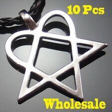 Wholesale 10 pcs Heartagram Star Heart HIM Pewter Pendant with Necklaces PP#233