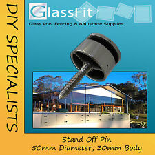 Frameless Pool Balustrade Stand Off Pins 50mm Duplex 2205 Stainless Steel