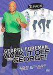George Foreman - Walk It Off With George: 2-Pack (DVD, 2004, 2-Disc Set)  NEW