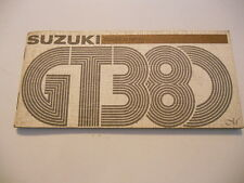 Suzuki Owners Manual 1975 GT380