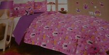 FAIRYTALE Girl's Twin Size Comforter, Sham, Decorative Pillow & Decals Set, Pink