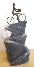 """Poly-Skulptur: Fahrradfahrer """"Aufwärts"""""""