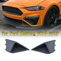 Front Bumper Fascia Corner Fog Vent  Arch Wing Side Decor For Ford Mustang 18-19