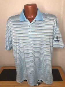 Men's Adidas ClimaCool Golf S/S Polo/Golf Shirt Size Medium (M) Striped