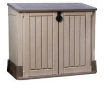Storage Shed Outdoor Resin Gallon Container Deck Patio Garden Garage Tool Box