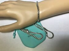Tiffany & Co.Sterling Silver Venetian Box Chain Necklace and Matching Bracelet