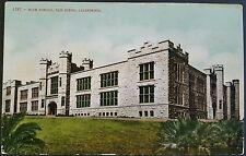 Postcard High School San Diego California Vintage Color