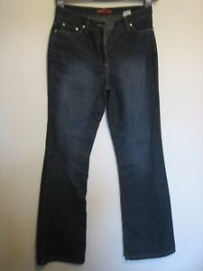 13Y )  WOMENS  NEXT BLUE  BOOTCUT JEANS  ZIP FLY  SIZE 10R  LEG 30
