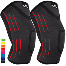 2-PC Knee Compression Sleeve Arthritis Pain Relief Braces Sports Workout (S-XXL)