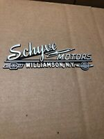 1950's Chevy Oldsmobile Dealership Schyve Motor Sales Badge Nos