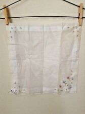 Vintage Bloch Freres Embroidered Butterfly Handkerchief Kerchief Cloth Decor