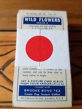 Complete Set Of Brooke Bond Tea Cards - WILD FLOWERS SERIES 3