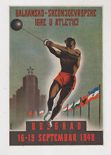 YUGOSLAVIA,1948,Athletic ,Balcan games 1948,poster with autographs 165x240 mm