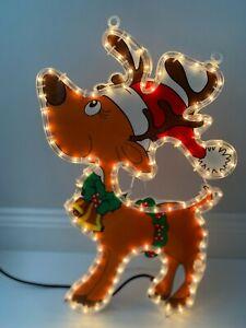 NEW  CHRISTMAS REINDEER SILHOETTE ROPE LIGHT.