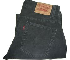 Hombre LEVI'S 512 Gris Oscuro/Descolorido Negro Corte Recto Jeans W32 L32