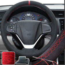 Steering Wheel Cover Suede Hand Stitch Wrap for Honda CRV CR-V 2012-16 13 14 15