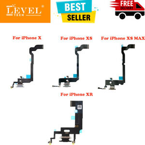 For iPhone X/XR/XS/XS Max Charging Port Flex USB Dock Connector Mic Replacement