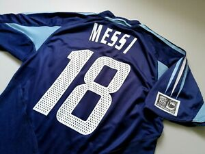 Jersey Argentina Leo Messi Adidas (S) vintage 2002 barcelona away shirt maglia