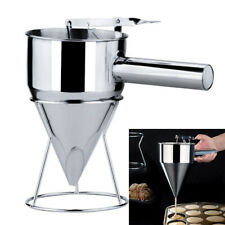 Stainless Steel Piston Funnel with Support Octopus Balls Sauce Cream Dosing