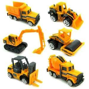 16x Kids Mini Metal Construction Truck Car Model Toy Excavator Digger Set  Sale