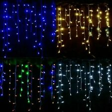 200LED Icicle Lights Christmas Wedding Snow Effect Battery Operated Decor 3.9M