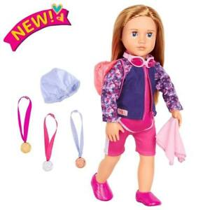 Our Generation OG Maya the Swimmer Professional Collection 18 inch Doll Set NEW