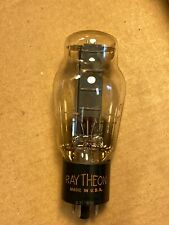 Rare 1943 Raytheon VT-244 5U4G Tube Hanging Filament Black Plates Tests Great