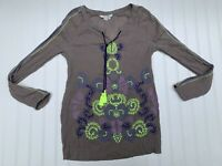Boden Womens Size US 4 Lola M Embroidered Blouse Tunic Top