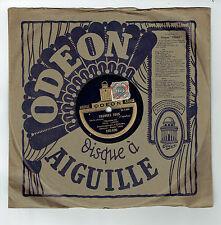78T Fred GOUIN Disque Phonographe PAUVRE FOUS -L'OISEAU CHANTE ODEON 165630 RARE