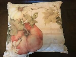 CLIMAWEAVE Pillow Indoor Outdoor 18X18 Susan Winget FARM TO TABLE PUMPKINS
