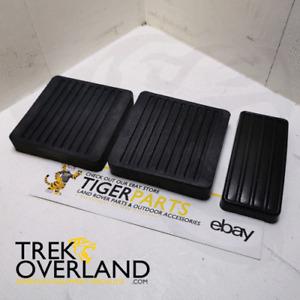 Land Rover Defender 90 110 Clutch Brake Accelerator Pedal Pad Set - AMB010