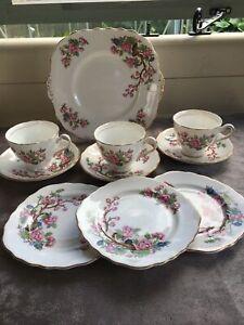 Colclough (Rare) Indian Tree, Bone China tea set - 10 piece set .