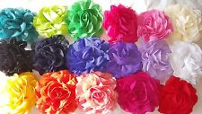 Joblot 24 Pcs Mixed Colour Faux Silk Flower Hairclips/broach Wholesale