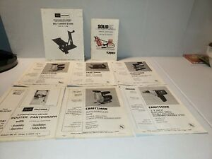 Vtg Lot of 7 Sears Craftsman Owners Manuals Diagrams Saws router sander drill