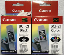 Canon BCI-21 Color and Black ink cartridge lot - FREE SHIPPING