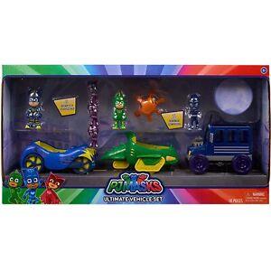 PJ Masks Ultimate Vehicle Set Catboy Gekko Night Ninja Ninjalinos Playset NEW