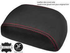 Cuciture rosse pelle grana SUPERIORE BRACCIOLO Coperchio Copertura Per Toyota Hilux 2006-2016