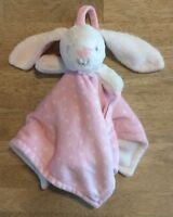 Blankets And & Beyond Lovey Bunny Rabbit Plush Blanket Pink White Polka Dot 2015