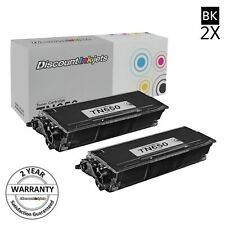 2pk TN-650 for Brother New TN650 High Yield Toner Cartridge HL-5340D DCP-8050