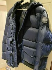 Canada Goose Ventoux Quilted Nylon Hooded Down Jacket - Admiral Blue - XL - New