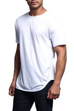 Victorious Men's Hipster  Solid Color Long Length Curved Hem T-Shirt TS270-N3