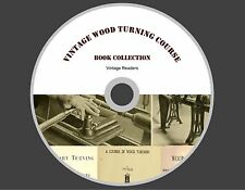 VINTAGE WOOD TURNING  COURSE ON A LATHE TREADLE  MANUAL LATHE WOODWORKING PLANS